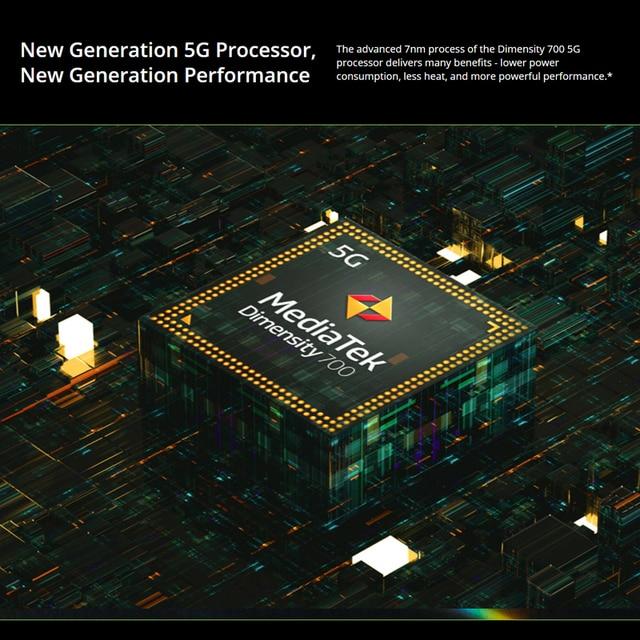 [World Premiere In Stock] Global Version Realme 8 5G Smartphones 6.5'' Dimensity 700 5G 48MP Camera 5000mAh 6GB 128GB Cellphones 3