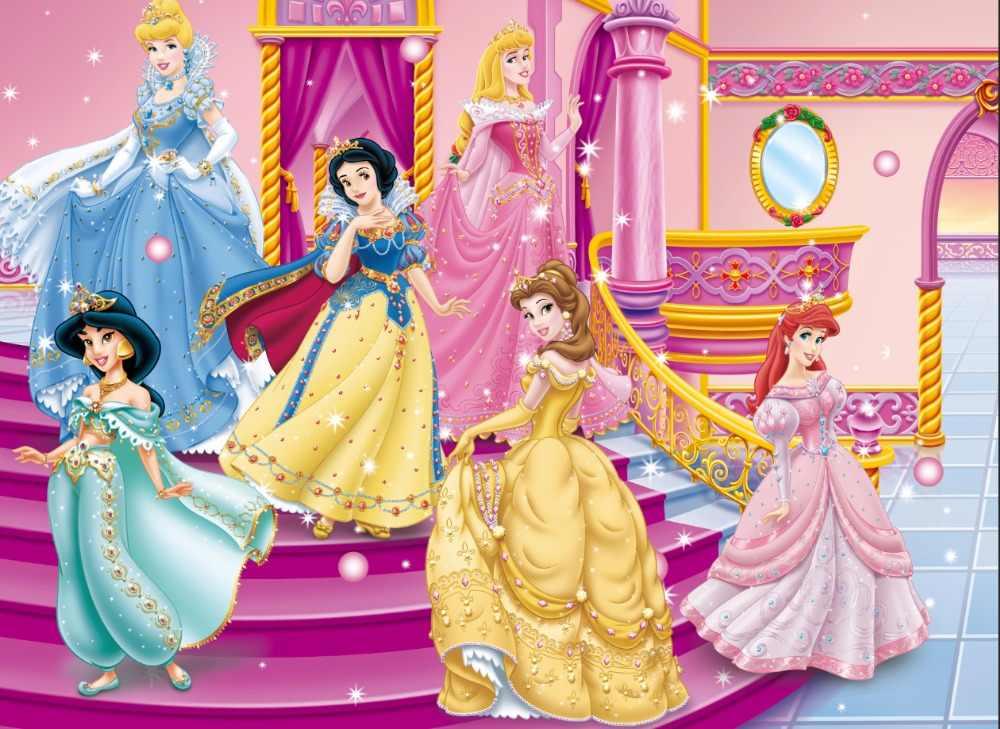 Фотофоны Белоснежка Белль Принцесса Жасмин платье фитинг комнаты ЗЕРКАЛА пользовательские фото фон студийный фон винил