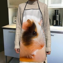 Guinea Pig Aprons Home Coffee Shop Cleaning Aprons Anti-Dirty Kitchen Accessories For Men Women 50x75cm,68x95cm Funy Gift