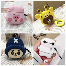 Cute Cartoon For airPods Case cover Silicone earphones dinosaur flower cute case Soft Holder Airpods 2 Protective Cover