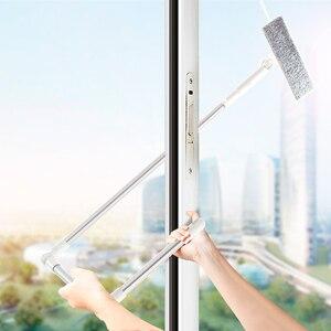 Image 1 - מנקה חלון זכוכית ניקוי מברשת כלי עם 180 מגב ראש הארכת מוט מיקרופייבר בד עבור מקורה וחיצוני Windows