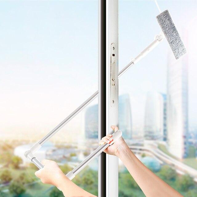 Window Cleanerกระจกทำความสะอาดแปรงเครื่องมือ180ไม้กวาดหัวเสาผ้าไมโครไฟเบอร์สำหรับในร่มและกลางแจ้งWindows