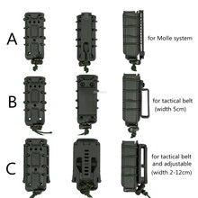 Elásticos 9mm compartimento bolsa molle militar airsoft wargame mag malotes tático combate caça tiro arma cinto revista