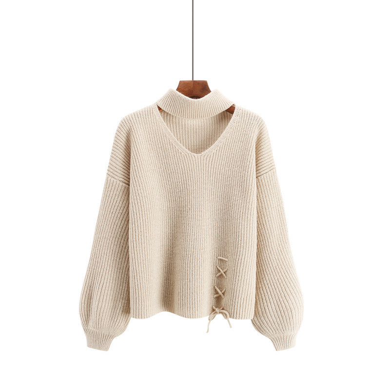 CHRLEISURE Women's Sweaters Winter V-neck Sexy Women's Knitted Jacket Trend Bandage Winter Clothes Women 7