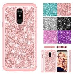 На Алиэкспресс купить чехол для смартфона shining glitter bling candy color case for lg tribute royal aristo 4 plus x2 2019 x320 prime 2 phone cases back cover fundas