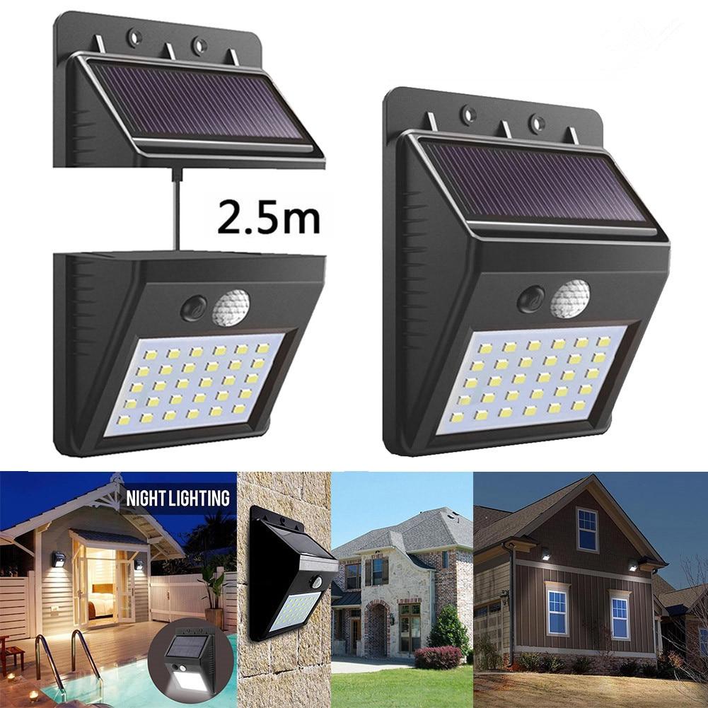 20/30 LED Solar Light Outdoor Led Solar Lamp Motion Sensor Wall Light Waterproof Solar Powered Sunlight for Garden Decoration Solar Lamps     - title=
