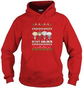 Золотая уродливая Рождественская футболка для мужчин и женщин, толстовка с капюшоном
