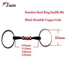 Уплотнительное кольцо, конные продукты из нержавеющей стали, черный конский бит с медное кольцо 105 мм 115 мм 125 мм 135 мм