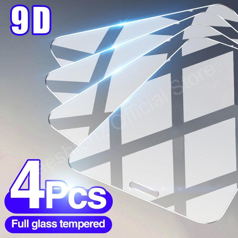 4 шт. закаленное стекло для iPhone 11 12 Pro MAX 12 Mini X XR XS, Защитное стекло для экрана iPhone 6 7 8 Plus, защитная пленка