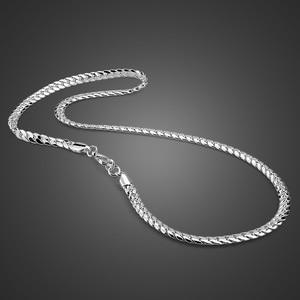 Image 1 - 100% ของแข็ง925เงินสเตอร์ลิงTwisted Singapore Chain 22นิ้ว6มม.สำหรับสตรีและผู้ชายใหม่ขายส่งDIYยาวสร้อยคอผู้ชายเครื่องประดับ