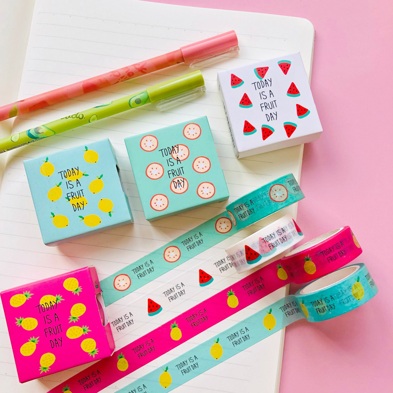 1.5CM*5M Fruit Watermelon Lemon Paper Masking Washi Tape Decorative Tape