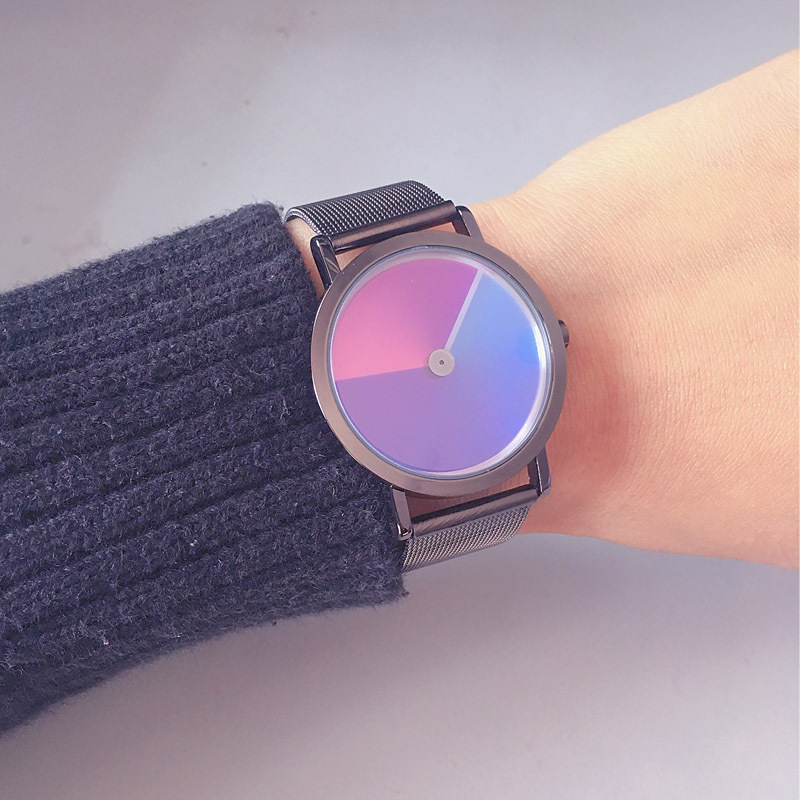 Rainbow WristWatch 2019 Fashion Retro Design Women Dress Watch Quartz Zegarek Damski Alloy Watches Gift For Lovers Reloj Mujer