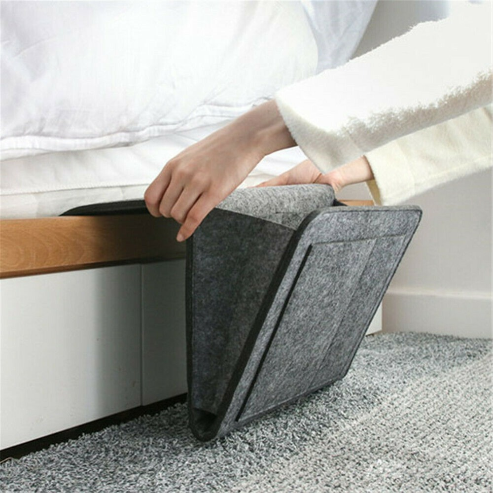 Felt-Bedside-Storage-Organizer-Bed-Desk-Bag-Sofa-TV-Remote-Control-Hanging-Caddy-Couch-Storage-Organizer (2)