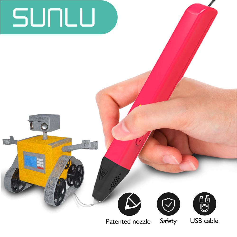 Sunlu SL-600 3D pióro do drukarki obsługuje PLA/Filament PCL 1.75mm Diy ołówek zabawki dla dzieci i dorosłych uwolnij kreatywność