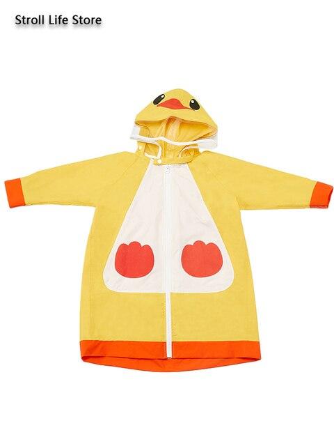 Cute Children Long Rain Coat Jacket Waterproof Suit Storm Thickened Yellow Kids Raincoat Bag Bit Rain Poncho Capa De Chuva Gift 3