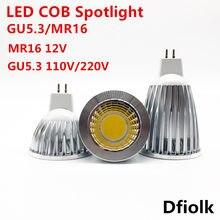 1 pçs de alta potência lâmpada led mr16 9w 12 15 12 v dimbare pontos led quente/legal wit mr16 12 v gu5.3 110 v/220 v conduziu a lâmpada