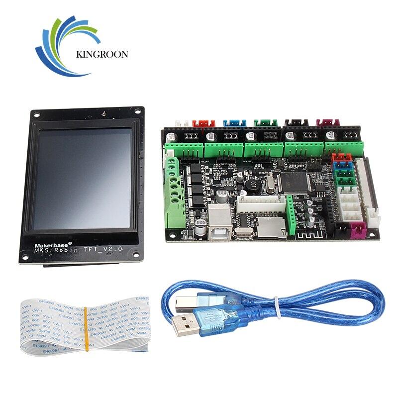 MKS Robin Nano TFT плата управления STM32 V2.0 аппаратное обеспечение с открытым исходным кодом (поддержка Marlin2.0) с 3,2 дюймовым сенсорным экраном ARM