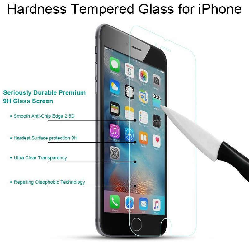 Protezione dello schermo di Vetro per il iPhone X 5 5S SE 4 4 4S Vetro Temperato per il iPhone 11 Pro 8 6 6s Plus Dura Libera di Vetro su iPhone 7 Plus