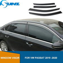 Deflectorsหน้าต่างด้านข้างสำหรับVW Passat 2019 2020สภาพอากาศโล่หน้าต่างVisors Sun Rain Guards SUNZ