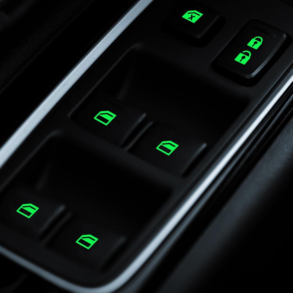 Luminoso de la puerta de coche ventana levantar ventana Botón de estilo de coche etiqueta engomada del coche para Mitsubishi ASX Outlander 2013 de 2016 a 201 Envío Gratis nuevo MR583930 para Mitsubishi LANCER Outlander MR-583930