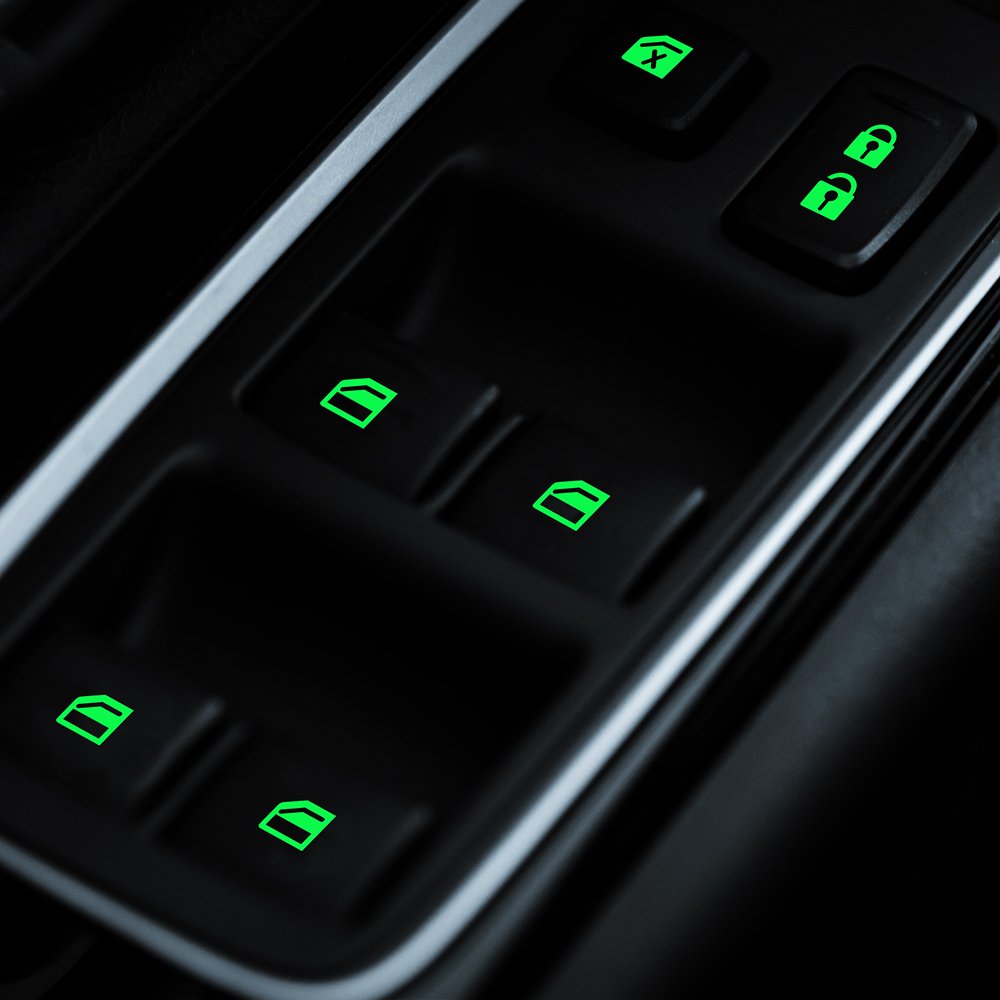 Luminous  Car Door Window Lift Window Button Sticker Car Styling Car Sticker  For Mitsubishi ASX Outlander 2013 2016 201