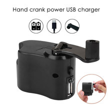 Hand Crank Charger Hand Crank Charging Backpack Camping Hiking Durable Hand Power Dynamo ABS Portable Emergency Outdoor USB mini hand crank operated emergency alarm siren loud110db abs free shipping