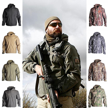Hot Sharkskin TAD Softshell Jacket Outdoor Hunting Clothes Men Fleece Hiking Camping Waterproof Windbreak