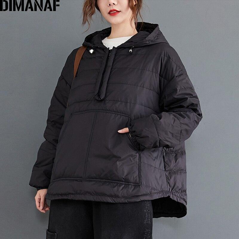 Dimanaf秋冬プラスサイズの女性パーカースウェットプルオーバー女性トップス生き抜く綿服厚み暖かいルースフード付き