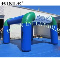 Reliable oxford 6mLx6mWx3mH small exhibition inflatable square tent with 4legs temporary event structures for product launches