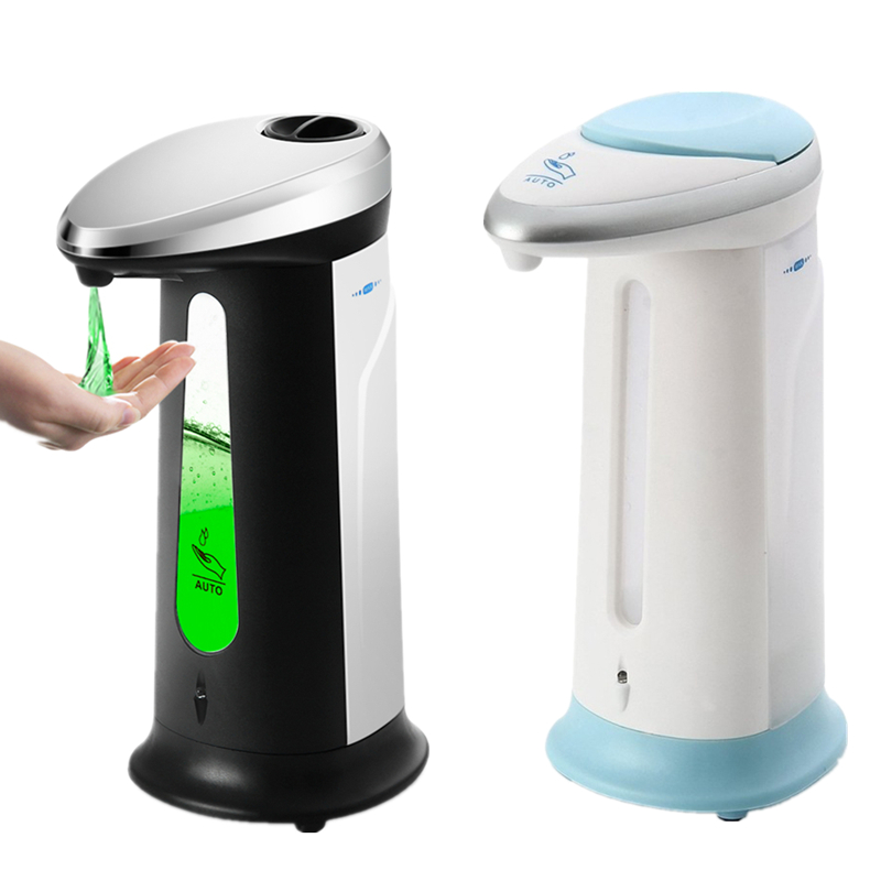 Fashion Automatic Liquid Soap Dispenser Smart Sensor Touchless ABS Electroplated Sanitizer Dispenser Kitchen Bathroom 400Ml ABS