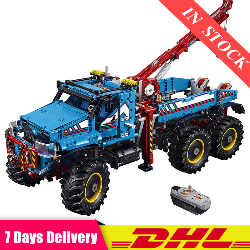 Technic The Ultimate All Terrain 6X6 Remote Control Truck Set Building Blocks Bricks Toy Compatible <font><b>LegoINGlys</b></font> <font><b>42070</b></font> 20056 image