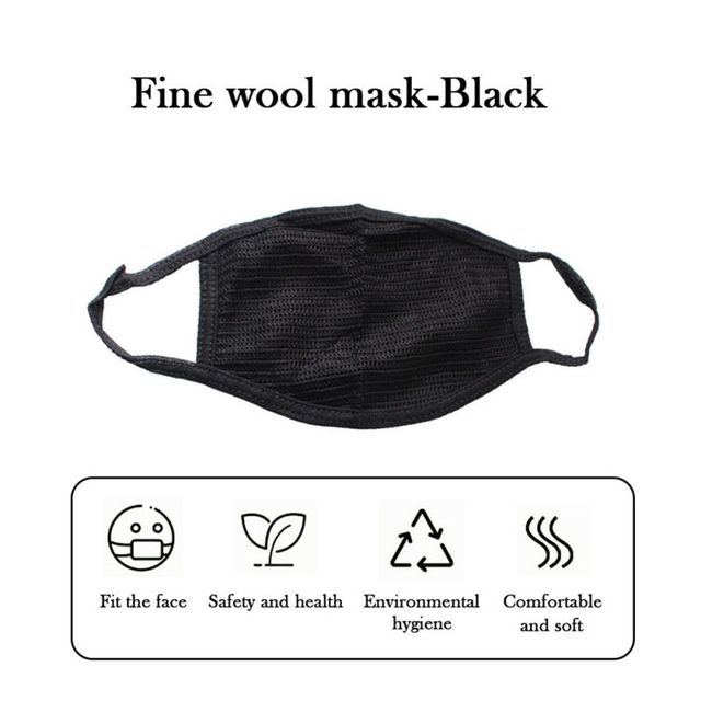 Cotton Black Mouth Mask Anti Dust Mask Activated Carbon Filter Windproof Mouth-muffle Bacteria Proof Flu Face Masks Tool 2