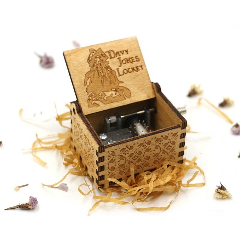 Старинная Музыкальная шкатулка с ручной резьбой по дереву в качестве подарка на день рождения и Рождество для вас и ваших друзей - Цвет: Davy Jones