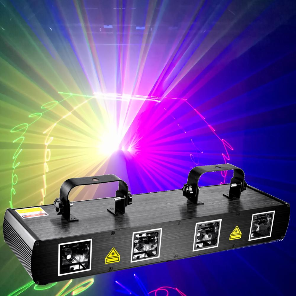 Super Strong RGBY Laser Show Projector Stage Disco Party Christmas Decoration Laser Lights DMX DJ Projector 500meters