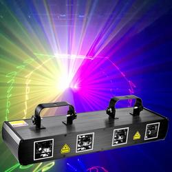 Super fuerte RGBY láser Show proyector etapa Disco fiesta Navidad decoración luces láser DMX DJ proyector 500 metros