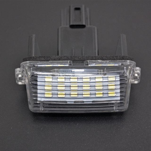 2x lâmpadas da placa de licença do carro conduziu luzes feitas sob encomenda da placa de licença para toyota yaris 2012-2014/camry 2013-2014/auris 2009 - 2010