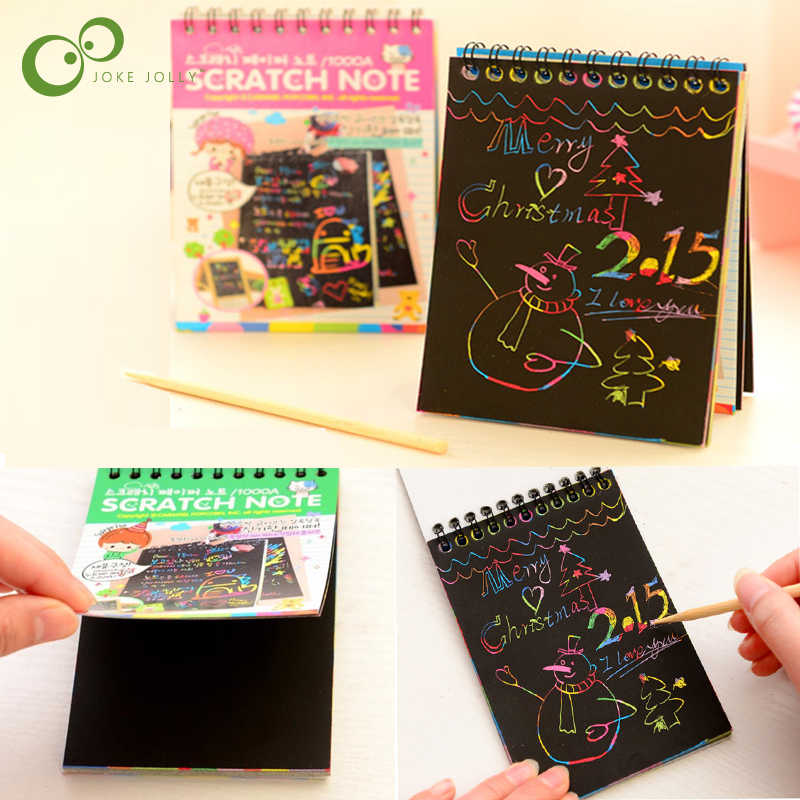 1Pc Scratch Magic Art Book Doodle Pad Pittura Pittura di Sabbia di Carte di Apprendimento Precoce Educativo Creativo Giochi di disegno per I Bambini ZXH