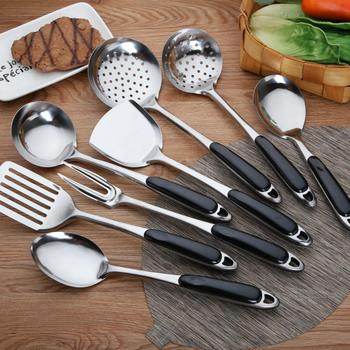 New Stainless Steel Cooking Tools Spoon Shovel Cookware Non-stick pan Kitchen Tools Spatula Ladle Kitchen Ware Cooking Strainer image