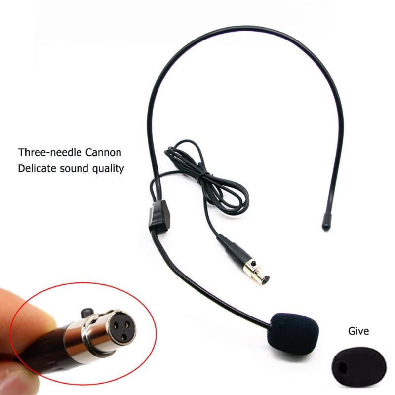 Mini XLR 3Pin TA3F Earhook Hanging Headset Mic For Wireless Bodypack Transmitter Effective Elimination Of Noise Interference