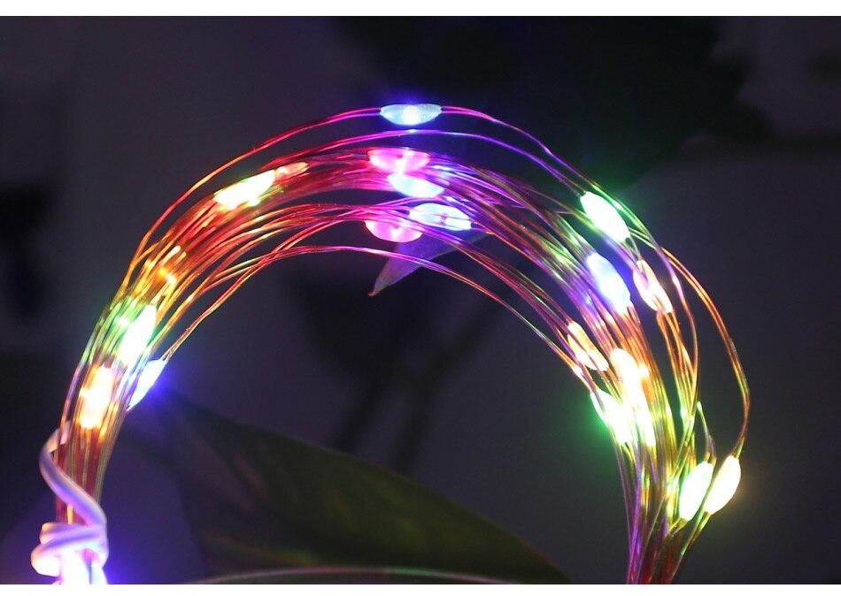 guirlanda luzes de fadas ano novo iluminação