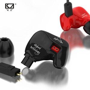Image 3 - Kz zs4 1dd + 1ba alta fidelidade esporte in ear fone de ouvido driver dinâmico cancelamento de ruído fone de ouvido cabo de substituição as10 zs6