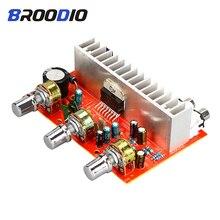 TDA7377 Amplificador de potencia Digital, dispositivo estéreo de 2,0 canales, 2x40W, tarjeta de Audio DC 12V, para cine en casa