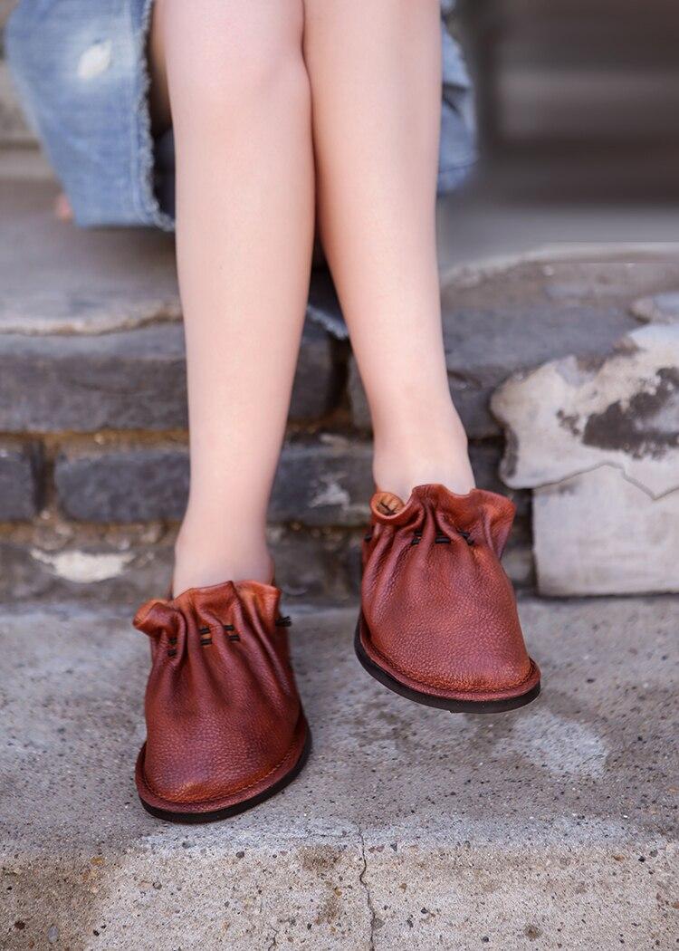 Mocassins de couro da marca sapatos de