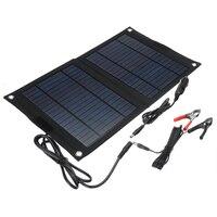 야외 휴대용 25W 접는 태양 전지 충전기 접이식 태양 전지 패널 충전기 모바일 전원 은행 전화 배터리 USB 포트