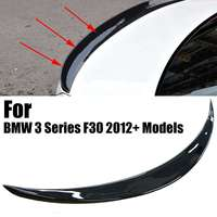 Gloss Black Rear Trunk Boot Spoiler Lip Wings For BMW 3 Series F30 P Style 2012+