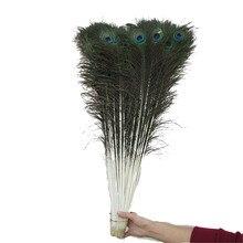 50Pcs Penas de Pavão Naturais Para Artesanato 80 CM-90 CM/32-36 polegada DIY Sala de estar decorado Vaso de Flor Decoração de Casamento Pluma