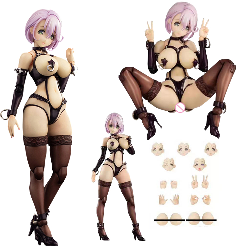 17cm Anime Sexy Figures SECOND AXE Type HENTAI Shizue Minase Movable Sexy Girl PVC Action Figure Collection Model Toys
