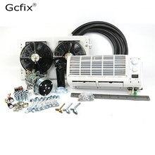 Universal ติดผนัง A/C Air Conditioner 12V 24V ระบบ Climate สำหรับ Heavy Duty รถบรรทุก Van รถแทรกเตอร์ขุดวิศวกรรมยานพาหนะ