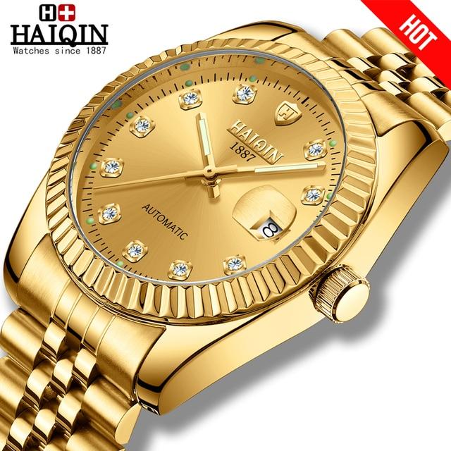 Mannen Horloge Top Brand Luxe Automatische Mechanische Horloge Casual Roestvrij Stalen Band Ultra Dunne Klok Horloge Man Relogio Masculino