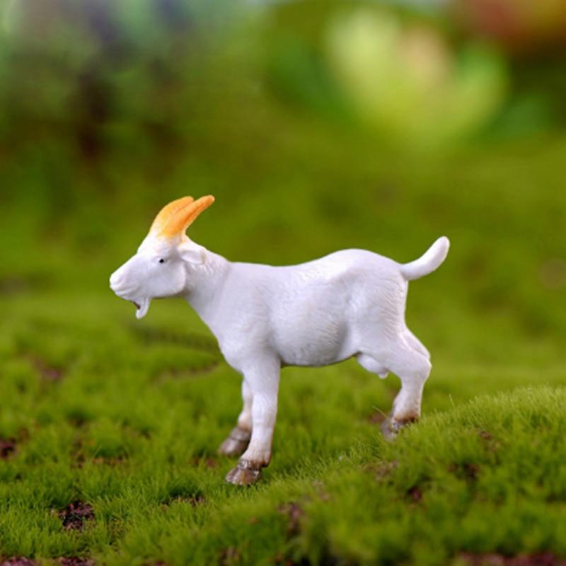 Farm Micro Landscape Decoration DIY Farmer Horse Cow Duck Piglet Goat Fairy Garden Decoration Animal Figurine Miniature Deco